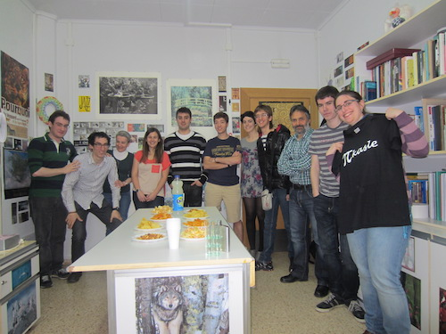 Group picture of the collaborators of PIkasle at one party on May of 2013